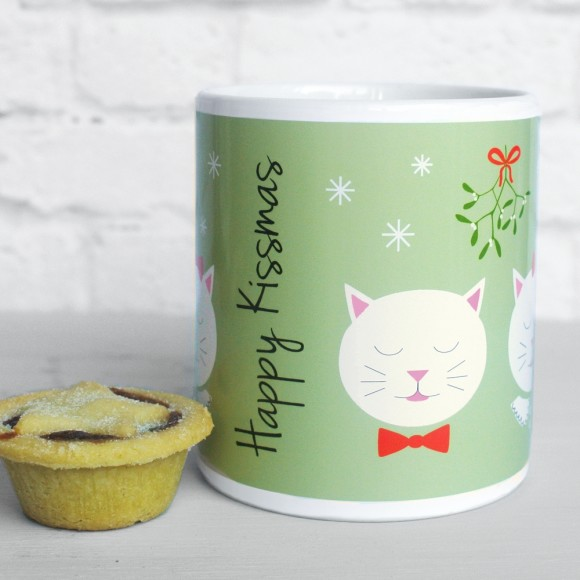 Frida Happy Kissmas mug, pistachio green