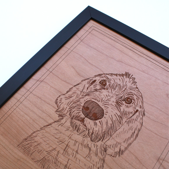 Detail of dog portrait