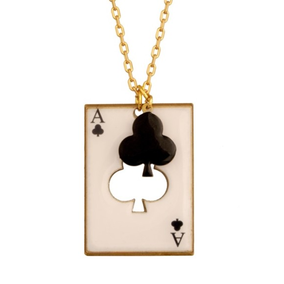 Clubs card necklace