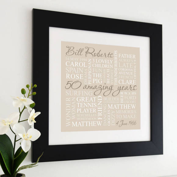 chunky black frame - neutral print