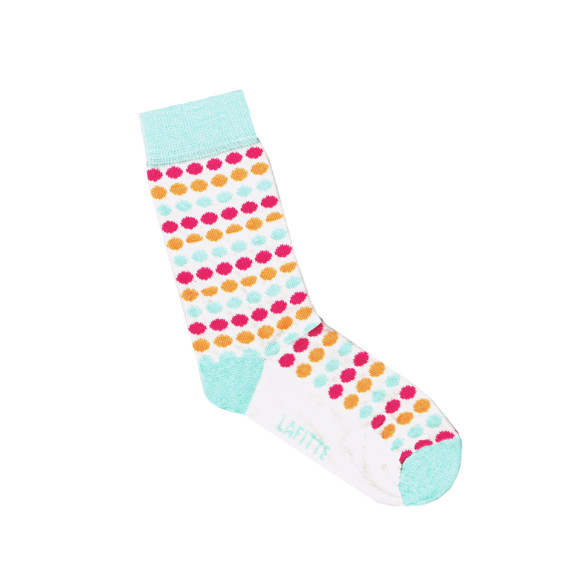 White spotted socks