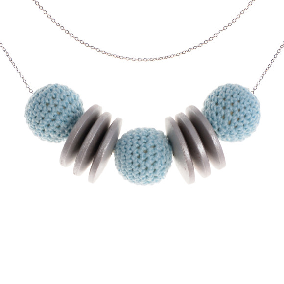 Silver & Light Blue