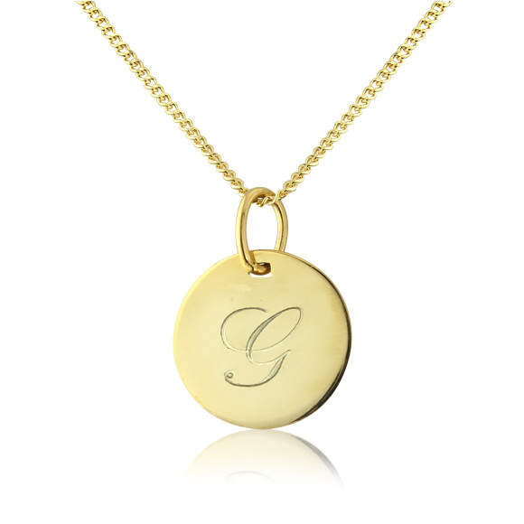 Gigi Pendant on 9ct Gold Adjustable Chain