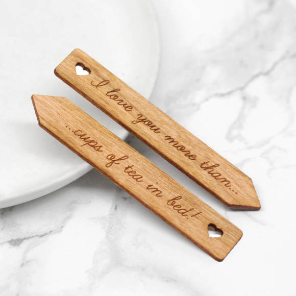 personalised heart collar stiffeners
