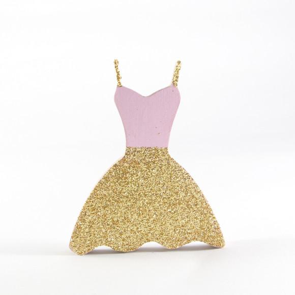 Glitter Dress Wall Hook front