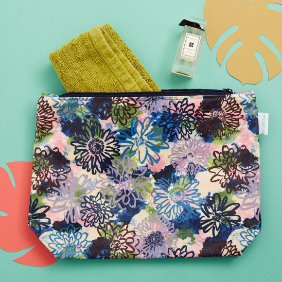 Large Flora toiletry bag