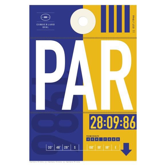 Parramatta Eels Luggage Tag Print