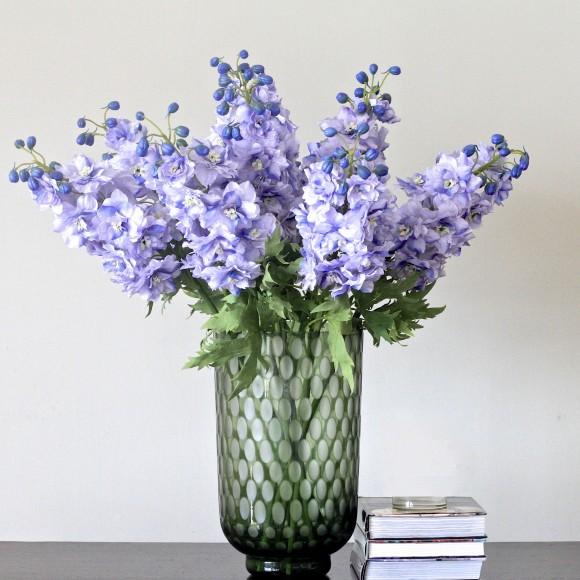 bouquet of blue delphiniums