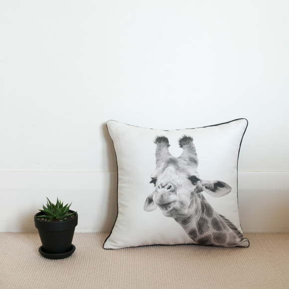 Hector Rose Giraffe Cushion