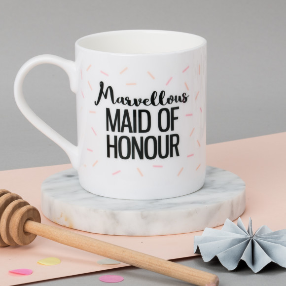 Personalised Maid Of Honour Wedding Mug