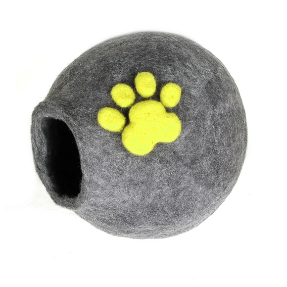 Wool Bed  for Your Furry Cat with Paw