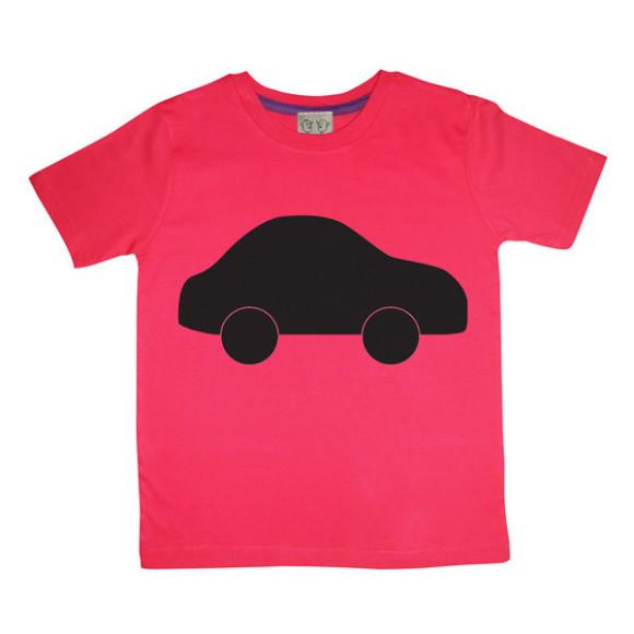 Red Car Chalkboard Tee