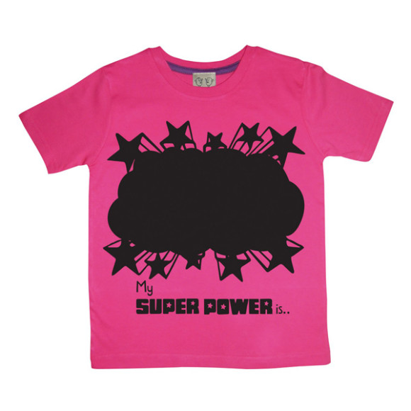 Pink Super Power Design Tee