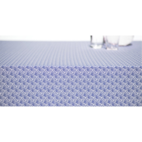 Danish blue print cotton tablecloth