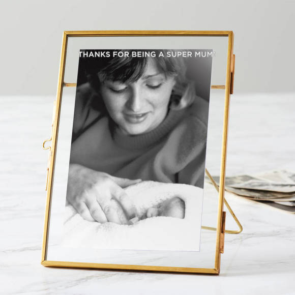 Personalised Brass Edged Photo Frame For Mum