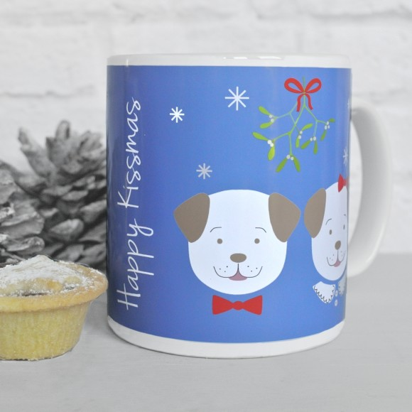 Fido Happy Kissmas mug, blue