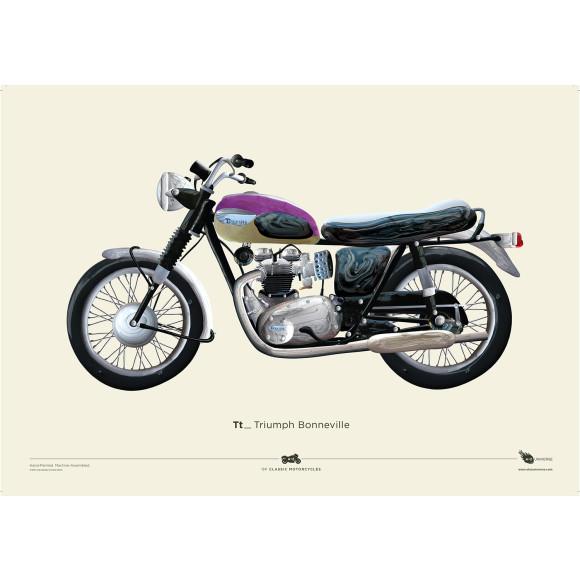 +Free A2 Triumph Bonneville Print