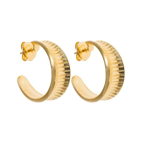 Hissia Oni gold hoop earrings