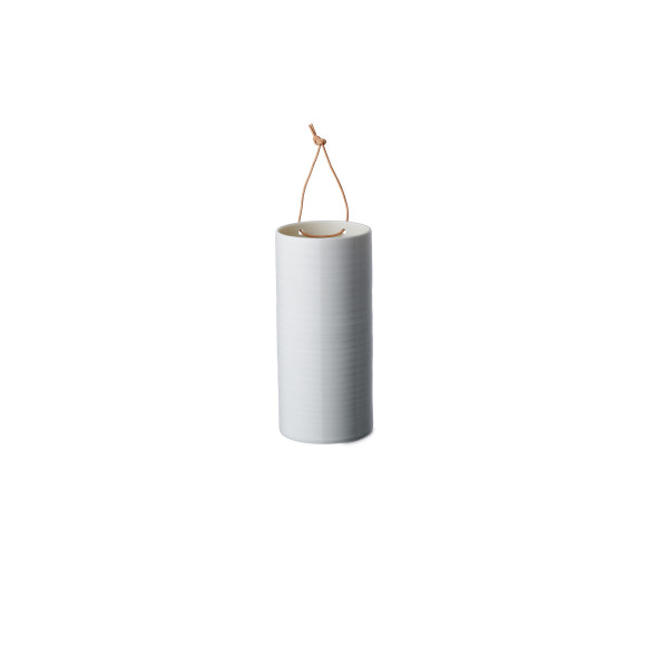 Concrete grey large hanging vase