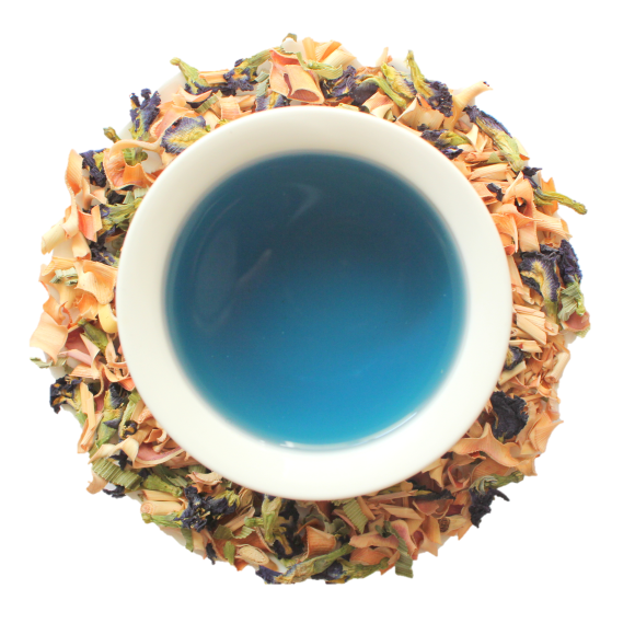 100% Natural and Organic Blue tea