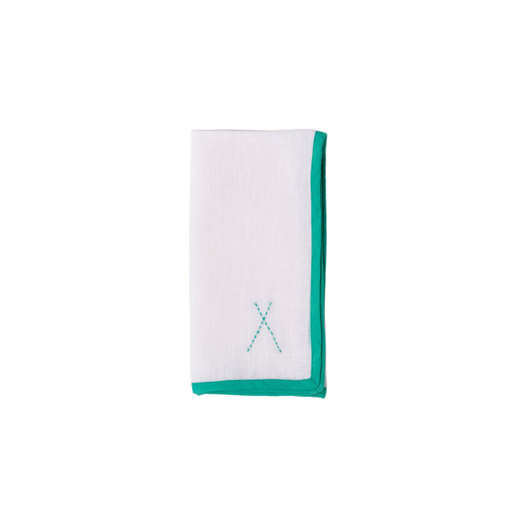 Linen Napkin with Turquoise TIPI