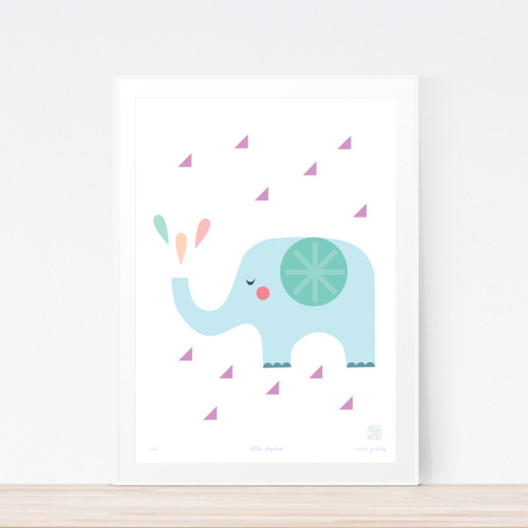 Little Elephant Art Framed