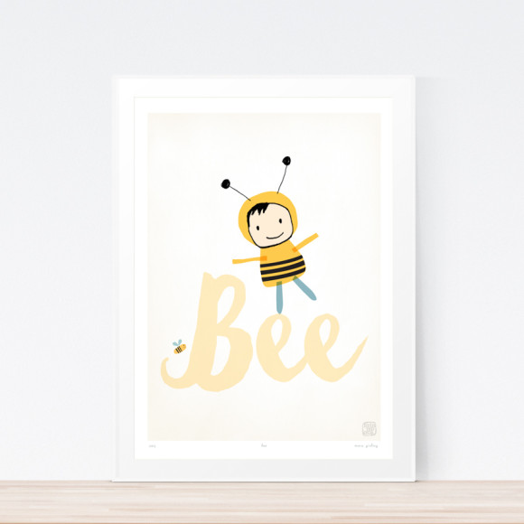 Bee Art Print Framed