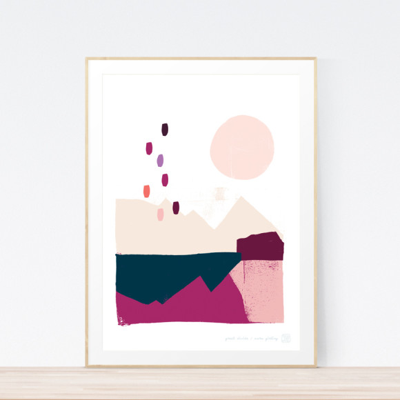 Great Divide Art Print (Framed)