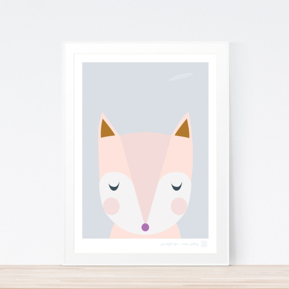 Goodnight Fox Art Print (Framed)