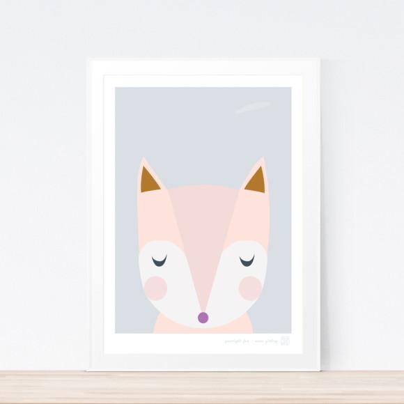 Goodnight Fox Art Print (Framed)