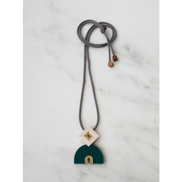 Monument Necklace - Forest Green