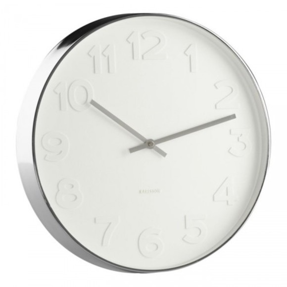 Karlsson Mr White Wall Clock, diameter 37,5 cm