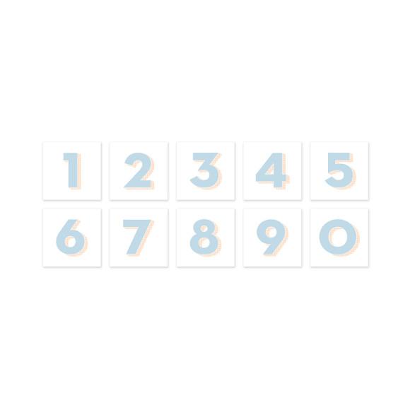 Personalised Blue Number Art Print