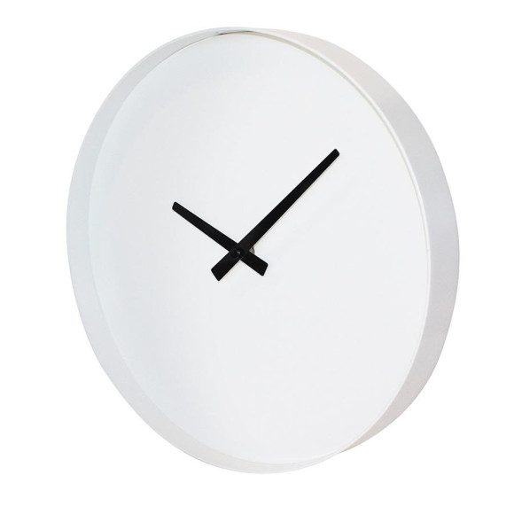Puristic white clock
