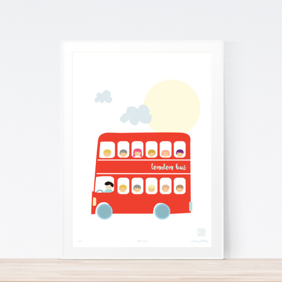 Bus art print framed