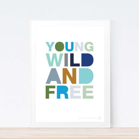 Young, Wild & Free (Framed)