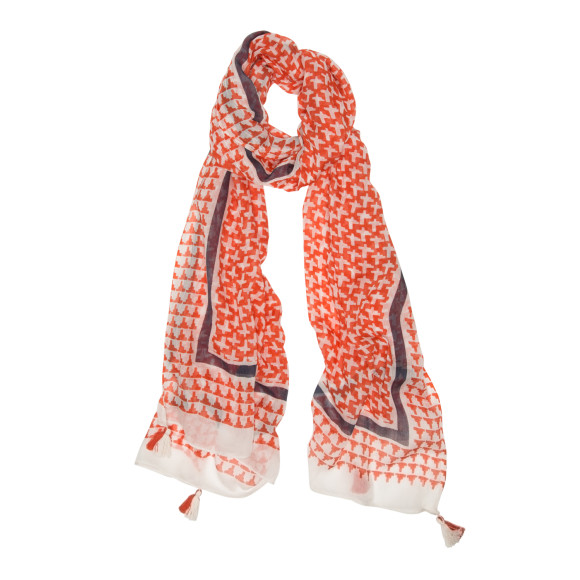 Cross border red scarf