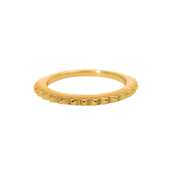 stud eternity ring gold