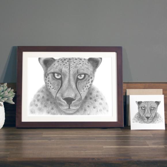 Cheetah print A4 mocha frame
