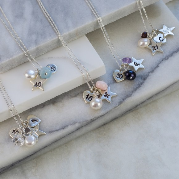 all personalised birthday necklaces