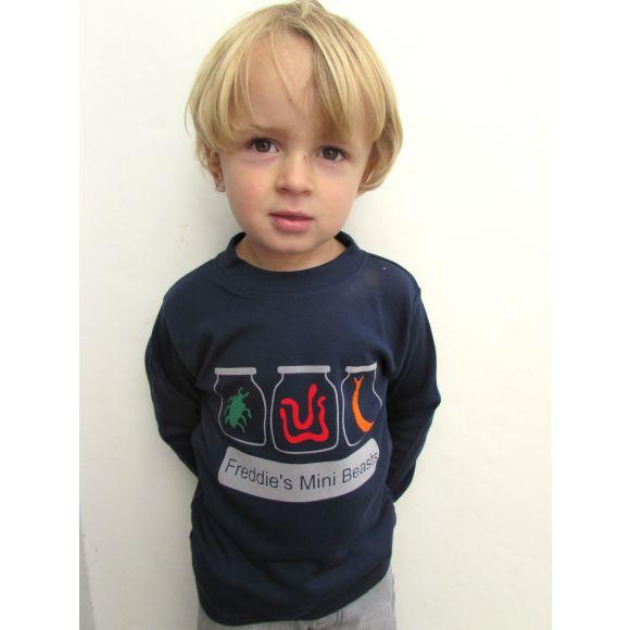 Personalised mini beast t shirt