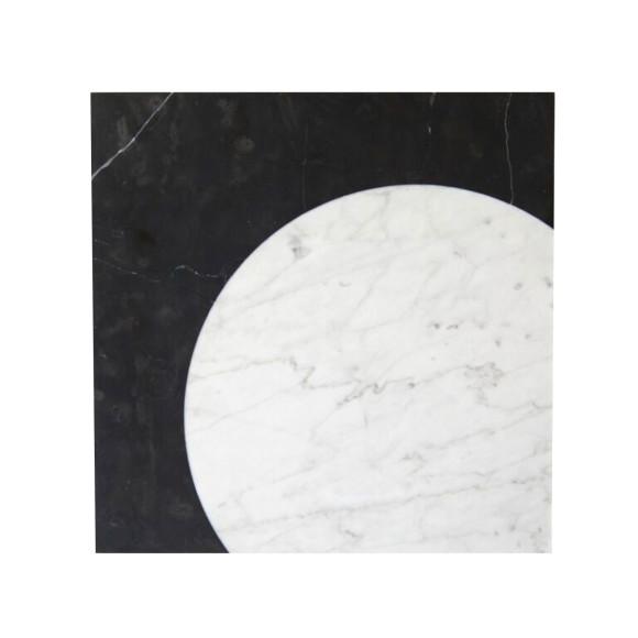 Luna- Black with white inlay