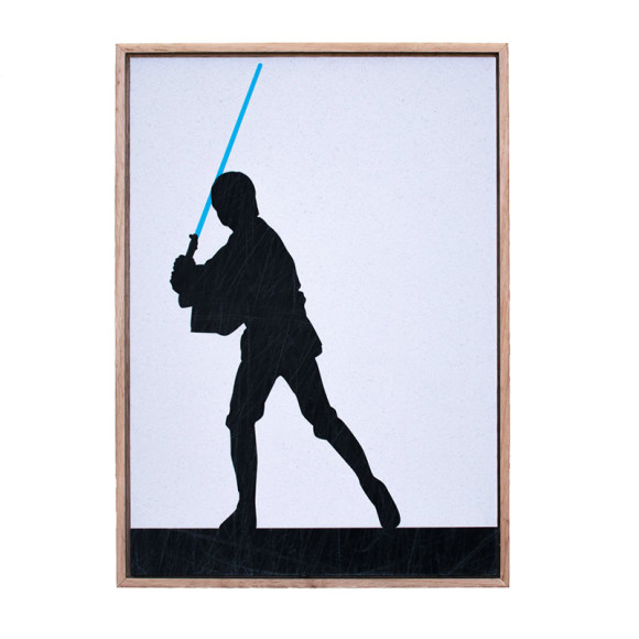 Star Wars Luke Skywalker Silhouette Framed Print Hardtofind