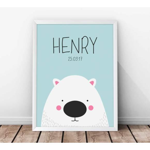 Personalised Wombat Kids' Print - Blue