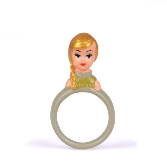 Blonde doll ring