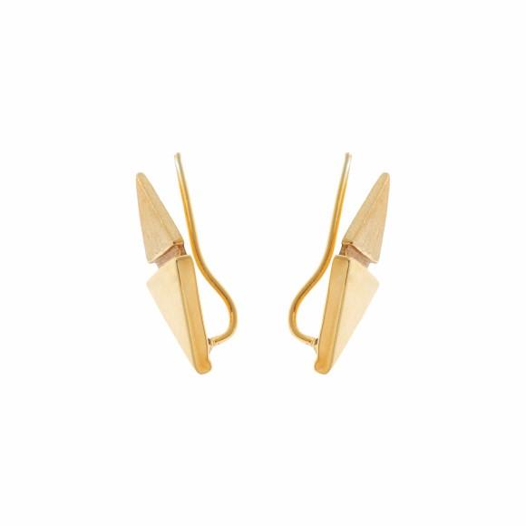 Hissia gold Origami pin earrings