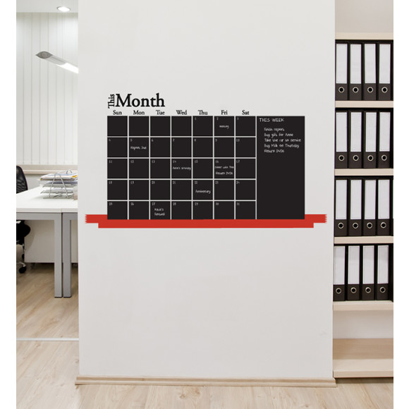 Monthly Blackboard Wall Sticker