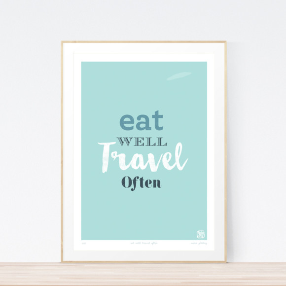 Eat Well Art Print (Framed)