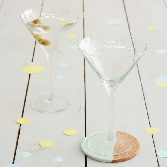 Personalised Recipe Martini Glass