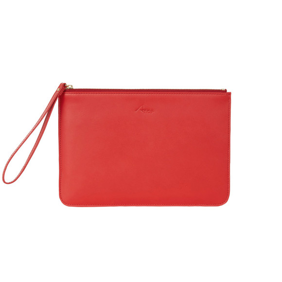 Classic Clutch in red leather